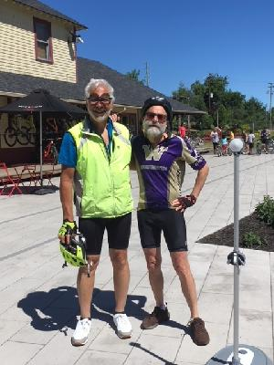 my friend, jeremy and I on a training ride this summer in Quebec