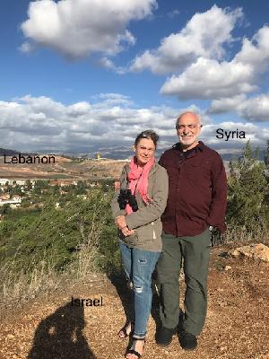 Three Countries in this photo. Lebanon on the Left. Syria over my shoulder, standing in Israel.
